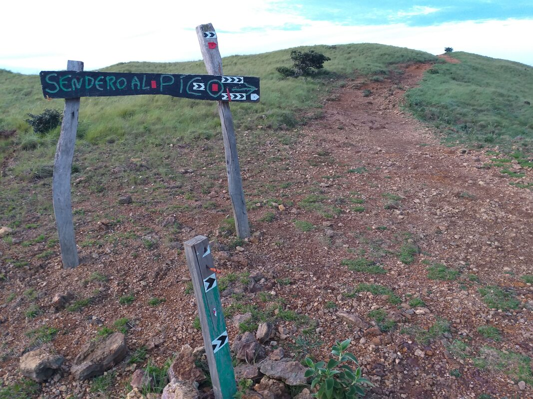 Follow sign to Right Cerro Pelado